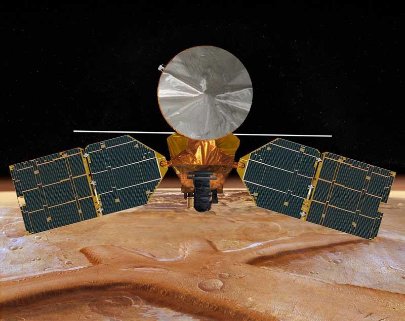 Artist impression of MRO. Image credit: NASA/JPL