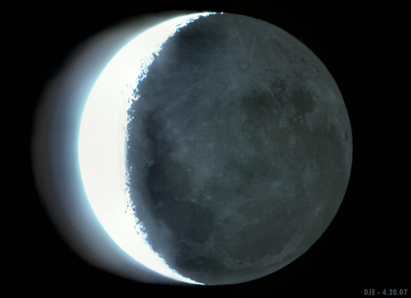 Earthshine on the Moon. Image credit: Drew J. Evans