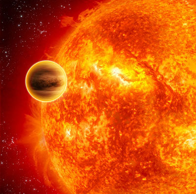 Artist's impression of a transiting exoplanet (ESA - C.Carreau)