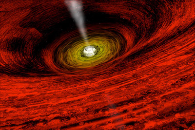Artist illustration of a black hole. Image credit: NASA