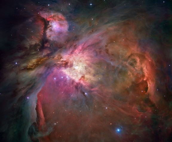 The Orion Nebula is a small but dense stellar nursery credit: NASA, ESA, M. Robberto (STScI/ESA) and The Hubble Space Telescope Orion Treasury Project Team
