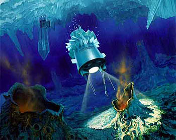 Artist illustration of a Europa probe. Image cr