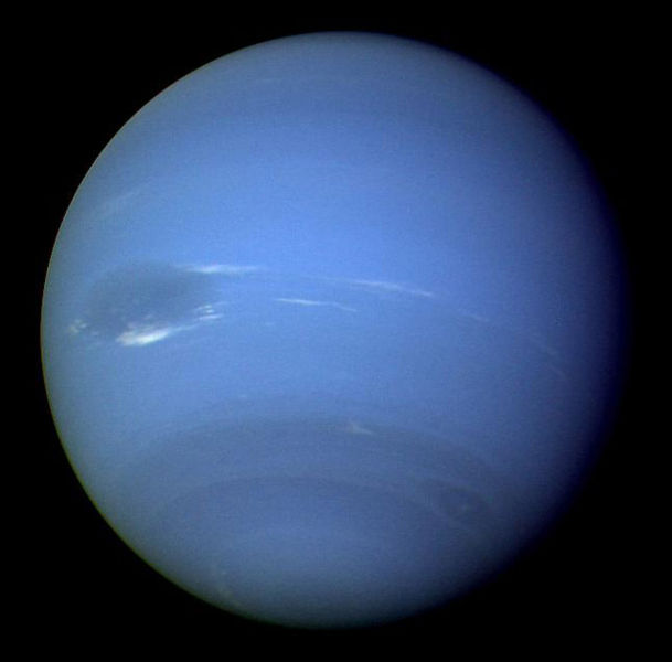 Neptune, captured by Voyager. Image credit: NASA/JPL
