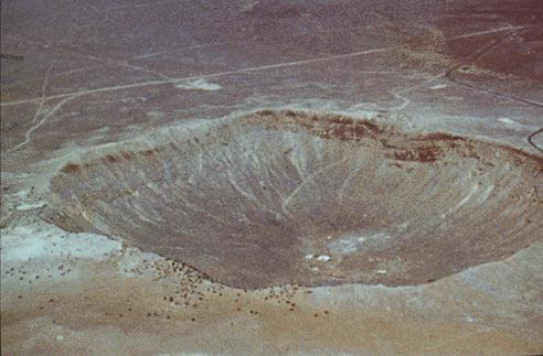 Meteor crater. Image credit: NASA