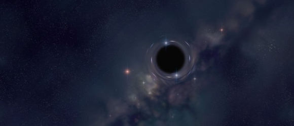 An artists impression of a black hole