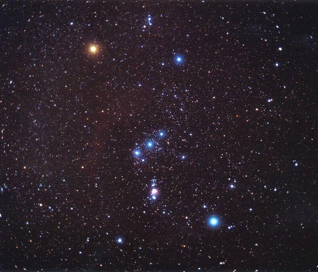 The constellation Orion. Credit: Matthew Spinelli  NASA/APOD