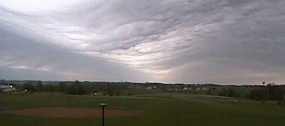 Still from a movie of a gravity wave passing over Tama, Iowa in 2006 (credit: Iowa Environmental Mesonet Webcam)