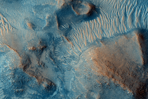 Nili Fossae on Mars.  Image Credit: NASA/JPL/University of Arizona