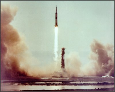 Apollo 11 launch in 1969, the first successful Moon landing (NASA)