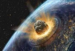 Artist impression of an asteroid impact on early Earth (credit: NASA)