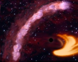 The X-ray emissions from a black hole swallowing a star can be observed as light echoes (MPE/ESA)