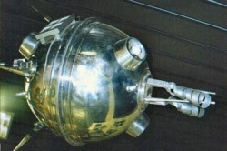 The Russian Luna 1 probe, the first manmade object to flyby the Moon (NASA)