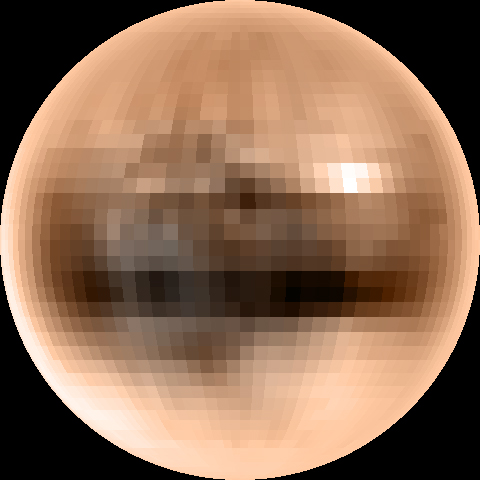 color of pluto