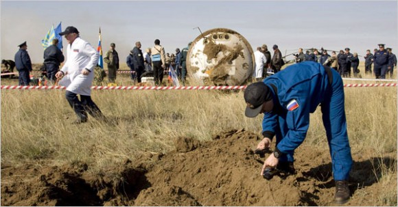 The Soyuz landing site (Shamil Zhumatov)