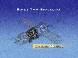 The Soyuz descent module (highlighted) (NASA)