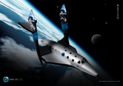 Artist impression of SpaceShipTwo (Virgin Galactic)