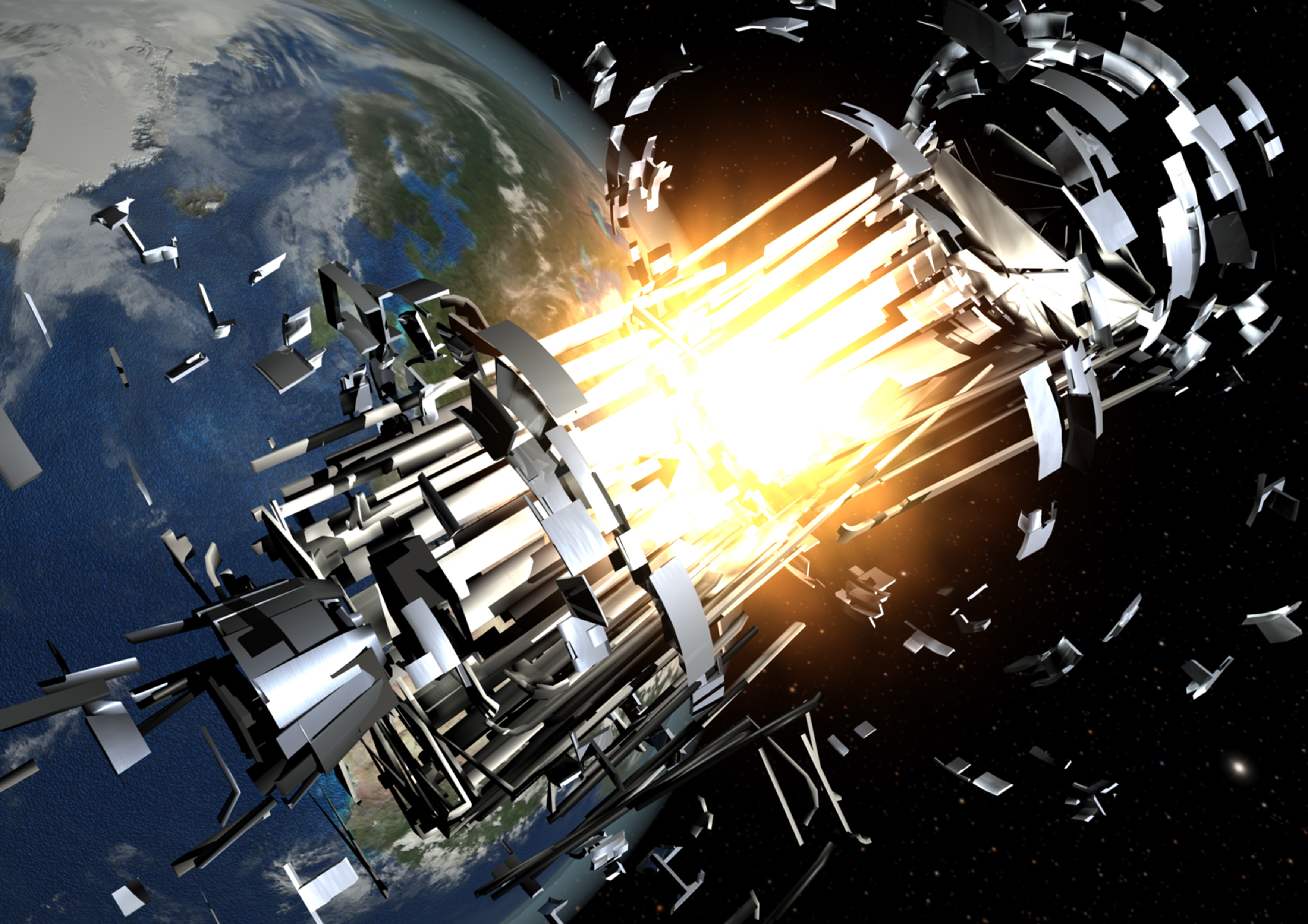 Scientists May Use Explosion-Powered Fans to Destroy Space Debris
