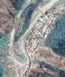 china-after-earthquake.  Image credit:  Taiwan's FORMOSAT-2 satel