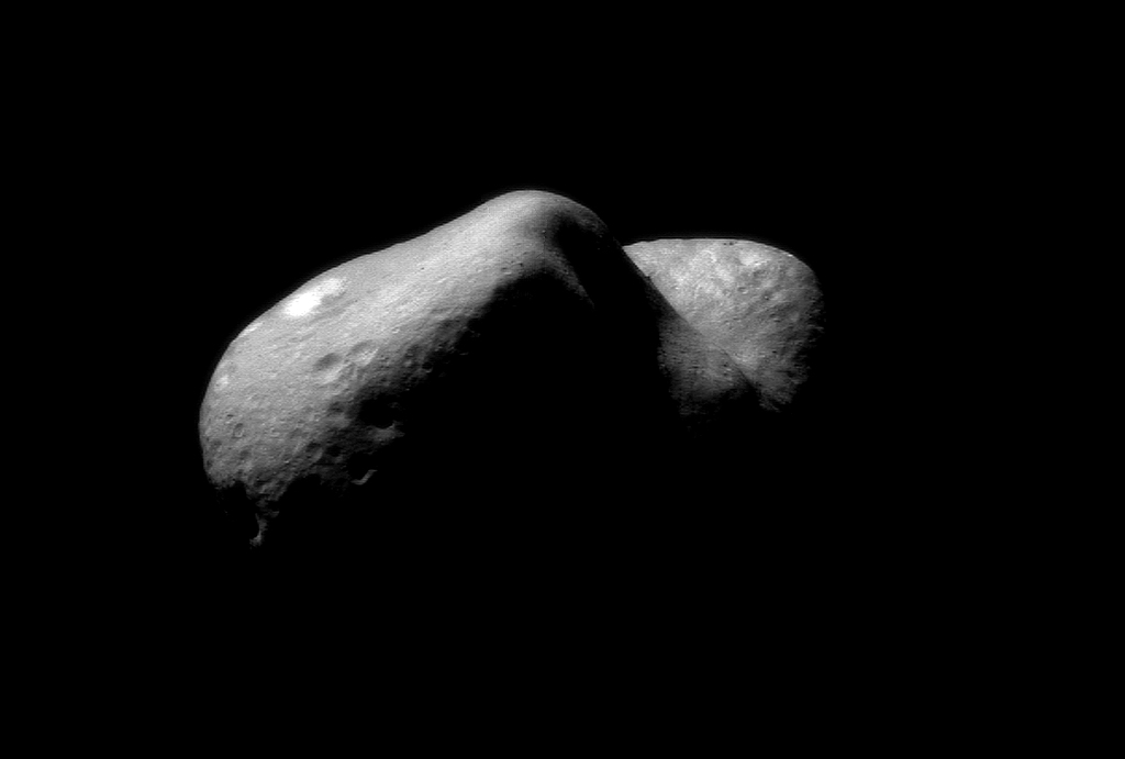 The asteroid Eros, it might be big but it doesnt spin as fast as 2008 HJ (NASA)