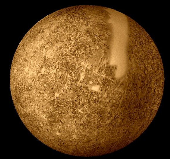 Mercury seen by Mariner 10. Image credit: NASA
