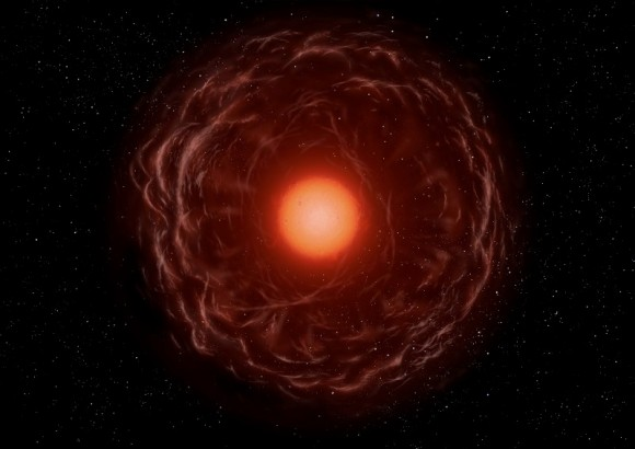 Artist's impression of a red giant star.