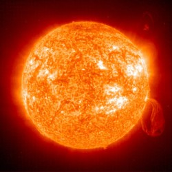 Image of the Sun by SOHO. Image credit: NASA/ESA