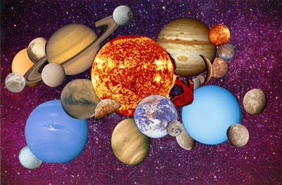 Pictures of all the objects in the Solar System. Image credit: NASA/JPL