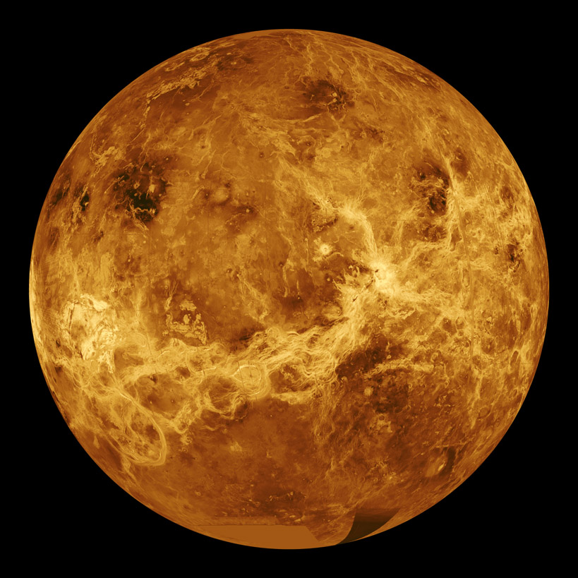 Picture of the planet Venus. Image credit: NASA/JPL: www.universetoday.com/14131/pictures-of-planet-venus