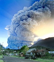 The eruption looms (AP)
