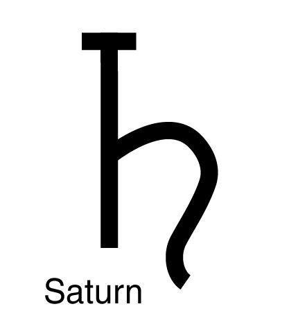 symbol for saturn