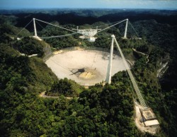 The Arecibo radio telescope in Puerto Rico (eVLBI)