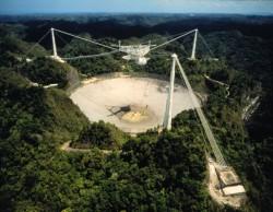 The Arecibo radio telescope in Puerto Rico (eVLBI)