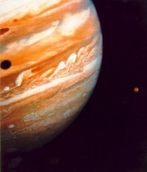 Jupiter and Io. Image credit: NASA