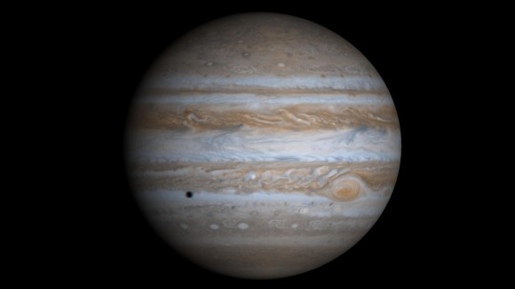 Jupiter, seen by Cassini. Image credit: NASA/JPL
