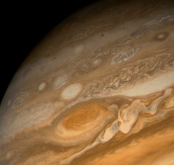 Clouds on Jupiter. Image credit: NASA/JPL