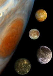 Jupiter and its moons. Image credit: NASA/JPL