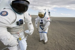 lunar-spacesuits.  Image credit:  NASA