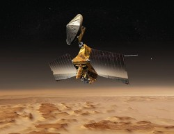 The Mars Reconnaissance Orbiter has stepped in for Odyssey (NASA)