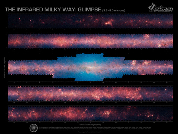 Milky_Way_infrared_mosaic.  Credit:  Spitzer Space Telescope