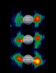 Jupiter\&#039;s radiation belts. Image credit: NASA/JPL