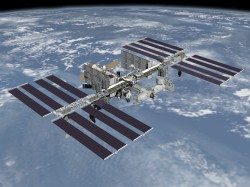 Artist impression of the final configuration of the ISS by 2010 (NASA)