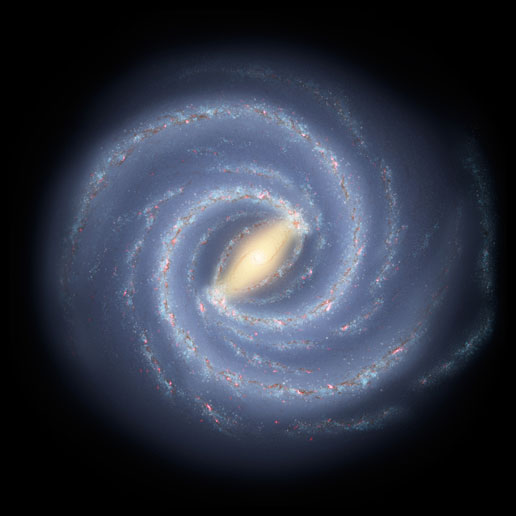 Artist's illustration of the Milky Way.  Credit;  NASA