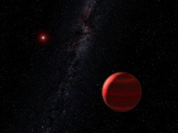 Red Dwarf star and planet. Artists impression (NASA)