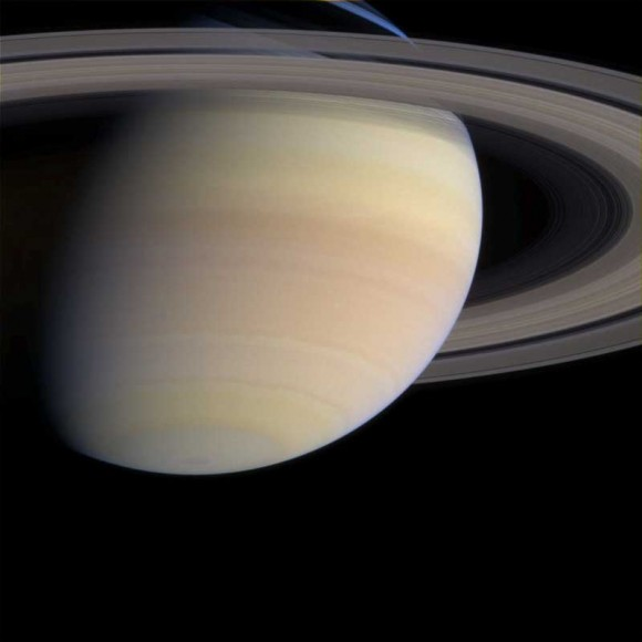 Saturn, seen by Cassini. Image credit: NASA/JPL/SSI