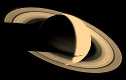 Saturn captured by Voyager. Image credit: NASA/JPL