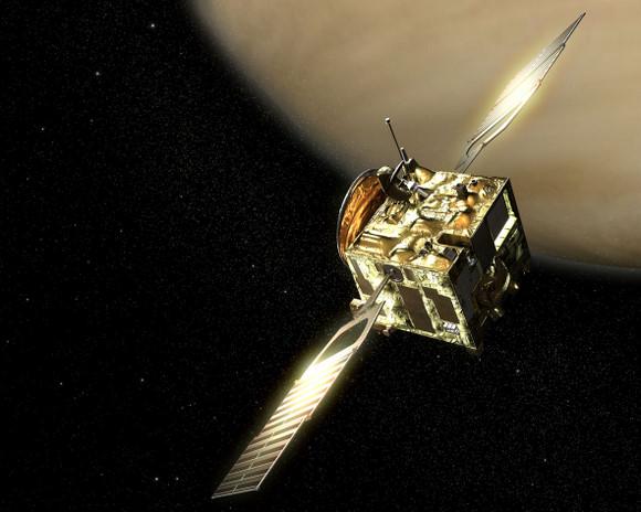 Artist's conception of Venus Express.  Image credit:  ESA