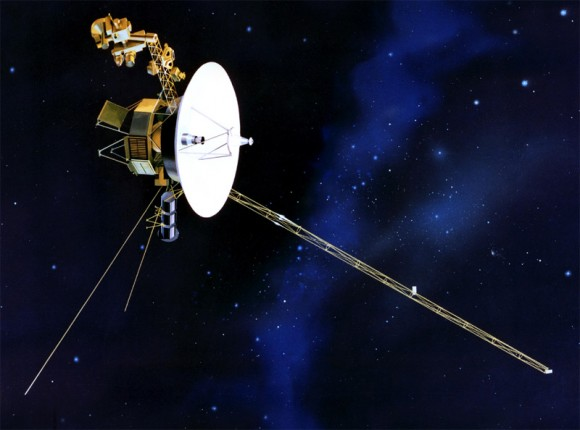 Artist impression of Voyager 1, the first probe to traverse the heliosheath (NASA)