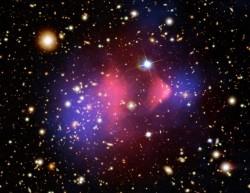 Bullet Cluster.  Credit:  NASA/CXC/CfA/STScI