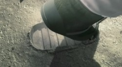 Armstrongs first footstep on the Moon (© nWave)