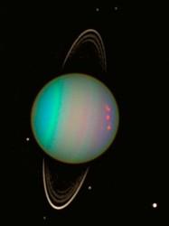 Uranus. Does it on its side (NASA/Hubble)